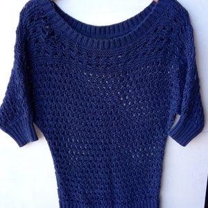 White House Black Market Short Sleeve Knitting Top